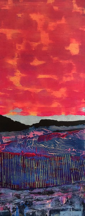Claire Kinsey - Red Sky Over Dartmoor